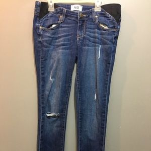 Paige Maternity Distressed Jeans Size26